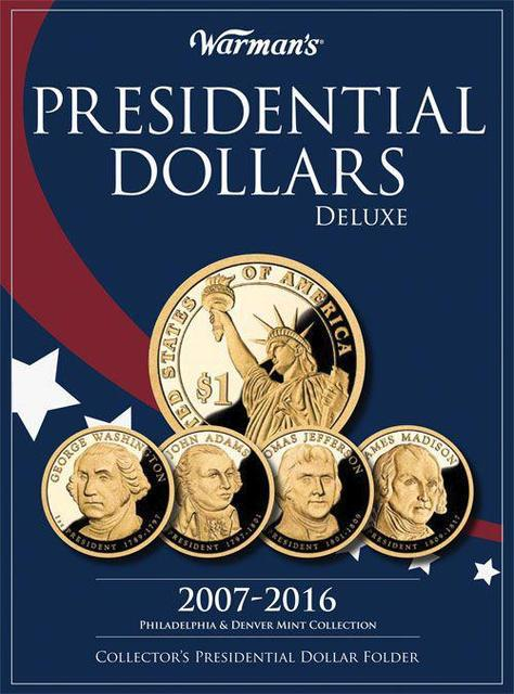 """Альбом для юбилейных монет США """"Президентские доллары"""""""