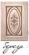 Шкаф однодверный 600 Василиса с зеркалом и полками. Цвет Береза, фото 4