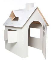 Картонный домик для разукрашивания
