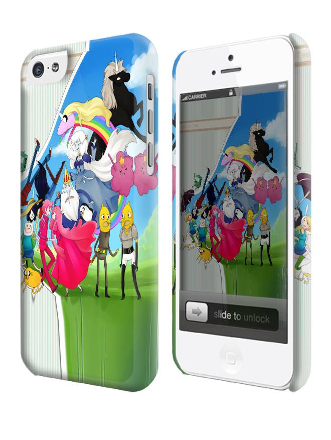 Чехол для iPhone 4/4s/5/5s/5с  время приключений adventure time