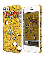 Чехол для iPhone 4/4s/5/5s/5с  время приключений джейк adventure time