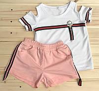 Летний набор футболка и шорты для девочки 6-12лет, фото 1
