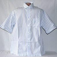 Тенниска мужская George в голубую полоску р.48, воротник 39-40 см б/у