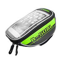 Велосипедная сумка-бардачок для смартфона B-SOUL зеленая, фото 1