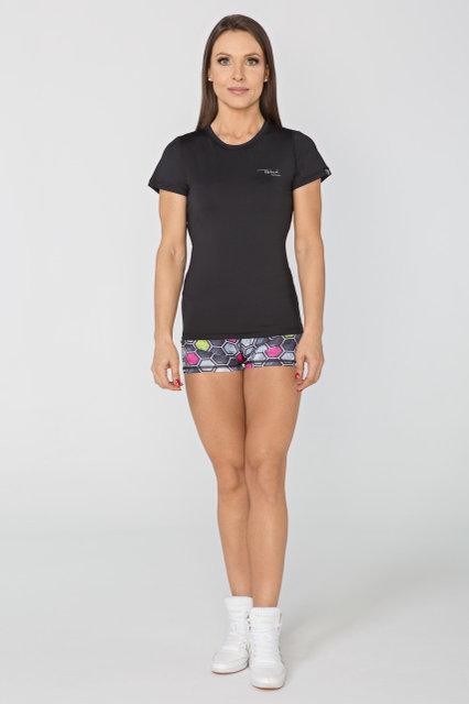 Спортивная женская футболка Radical Capri, черная