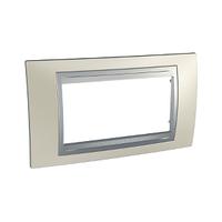 Рамка 4-мод. Титановый/Алюминий Unica Top Schneider, MGU66.104.095