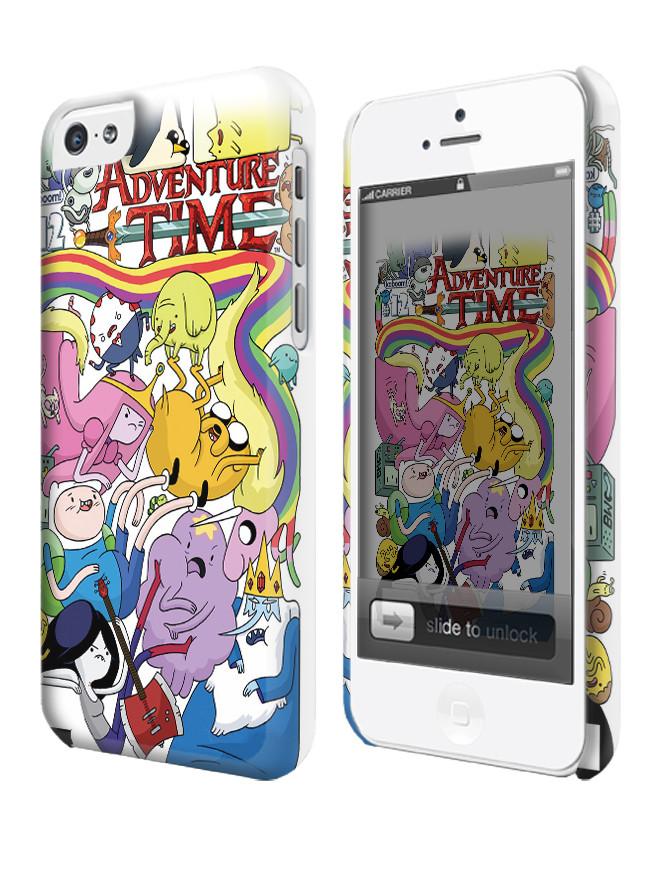 Чехол для iPhone 4/4s/5/5s/5с  время приключений джейк фин  марселин adventure time