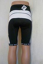 Велошорты лого Santini с памперсом (как XL), фото 2