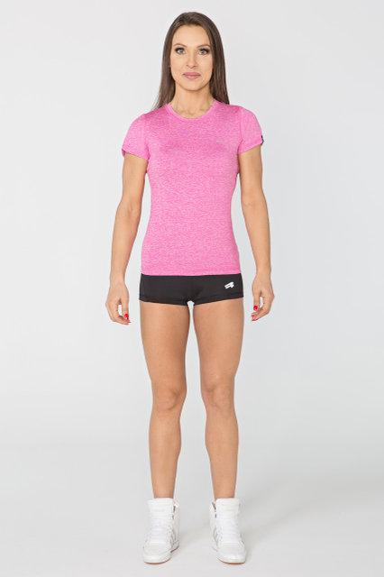 Спортивная женская футболка Radical Capri SG розовый меланж