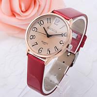 Женские стильные винтажные часы Relogio Красные