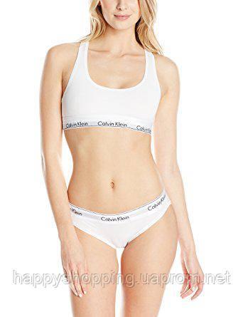 Женский белый оригинальный комплект нижнего белья (стринги) Calvin Klein