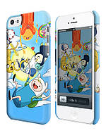 Чехол для iPhone 4/4s/5/5s/5с  adventure time jake finn  marceline