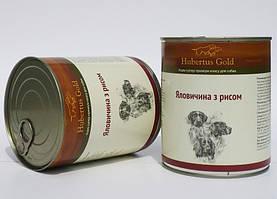 Консервований корм для собак. Hubertus Gold. Яловичина з рисом