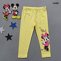 Лосины Minnie Mouse для девочки. 98, 104, 116, 128 см