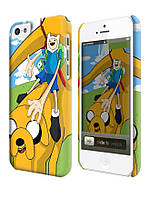 Чехол для iPhone 4/4s/5/5s/5с  adventure time jake  and finn