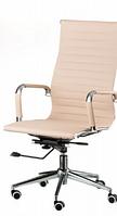 Кресло офисное Алабама НNEW, высокая спинка, механизм качания, цвет белый молочный