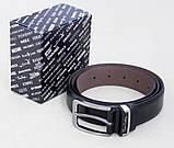 Брючный ремень мужской кожаный Pierre Cardin , фото 4