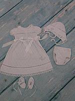 Торжественный наряд для девочки летний (ажур), р. 62