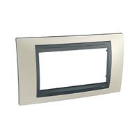 Рамка 4-мод. Титановый/Графит Unica Top Schneider, MGU66.104.295