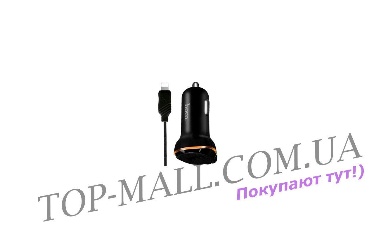 автомобильное зарядное устройство Hoco Z14 1usb X Lightning Black