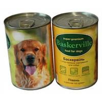 Консервований корм для собак. Baskerville. Півень з рисом і цукіні