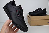 Мужские кроссовки Reebok Classic Workout черные Топ Реплика Хорошего качества