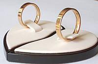 Кольцо Обручальное Американка - позолоченное. Самые популярные модели для свадьбы 2018! Торопись СКИДКА -55%