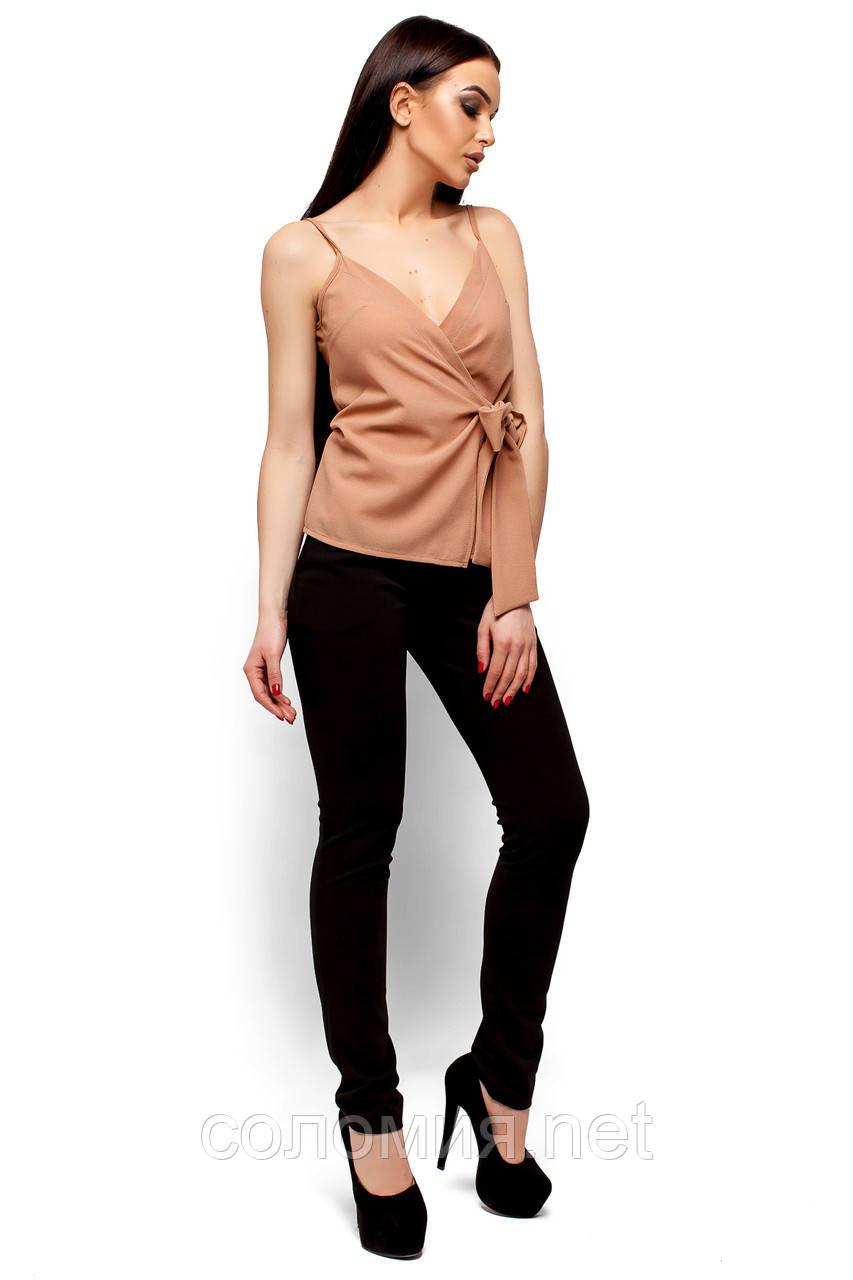 966c83e315e Элегантная блуза на тонких бретелях с глубоким декольте 42-48р ...