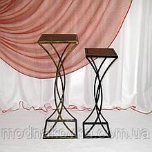 Стол-консоль кованый №4 средний черный/золото