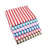 Набор тканей (Ткань) Разноцветные оттенки Полоска для Пэчворка 40x50 см 6 шт