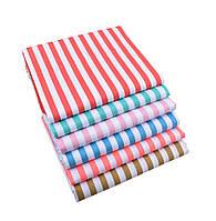 Набор тканей (Ткань) Разноцветные оттенки Полоска для Пэчворка 40x50 см 6 шт, фото 1