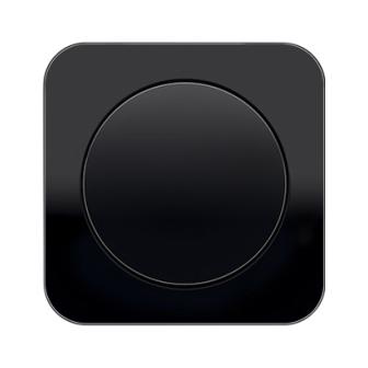 Выключатель одноклавишный Berker R1 чёрный