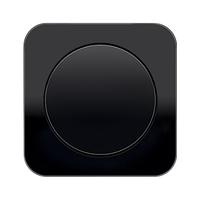 Выключатель одноклавишный Berker R1 чёрный, фото 1
