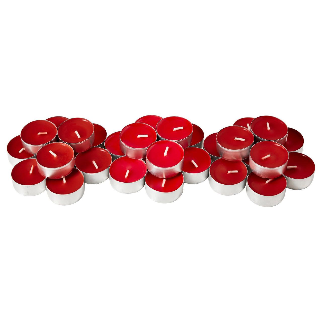 СИНЛИГ Свеча греющая ароматическая, сладкие ягоды, красный, 40236360, IKEA, ИКЕА, SINNLIG
