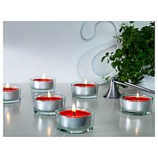 СИНЛИГ Свеча греющая ароматическая, сладкие ягоды, красный, 40236360, IKEA, ИКЕА, SINNLIG, фото 3