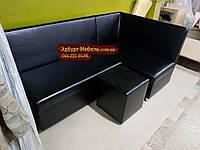 Кухонный уголок черный Пегас + спальное место кровать, фото 1