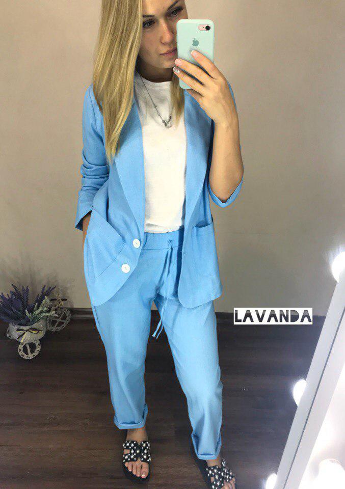 088939479d22398 Женский льняной костюм, цена 690 грн., купить в Одессе — Prom.ua (ID ...