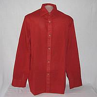 Рубашка мужская бордовая р.48-50,воротник 39 см, б/у