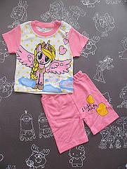 Детский летний костюм I Like для девочки на 6-12 месяцев