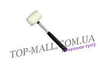 Киянка Intertool - 450 г х 65 мм, белая, ручка металл