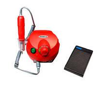 Фрезер для маникюра, комбинированного педикюра Escort 2 Pro красный, 30-35 000 об/мин с реостатной педалью