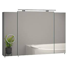 """Зеркальный шкаф """"Everest"""" 100 серый"""