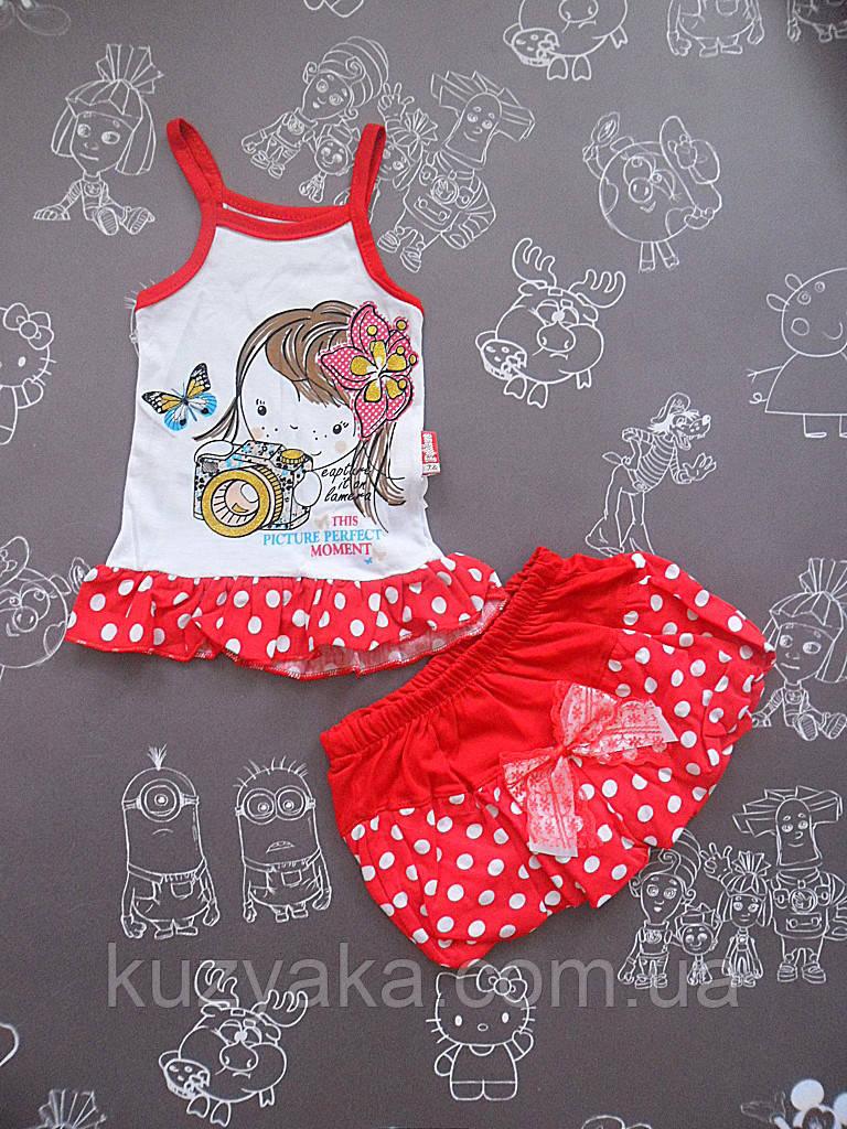 Детский летний костюм Picture для девочки на 9-12 месяцев