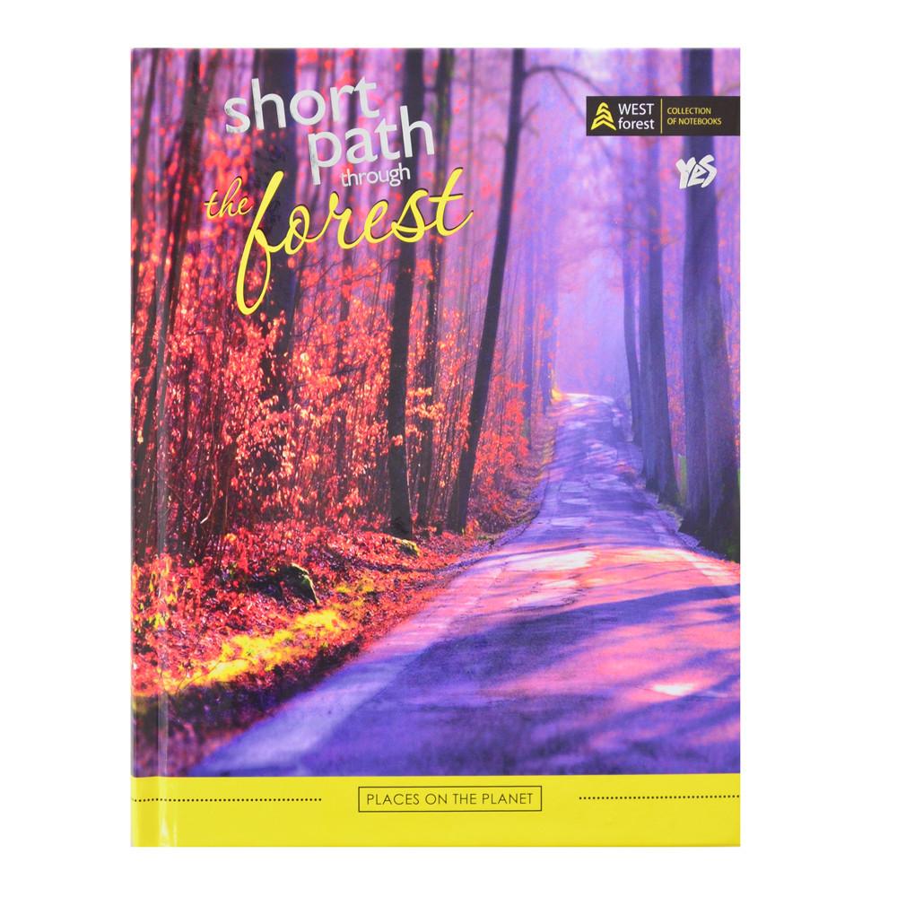 "Блокнот ""YES"" А5 64 листа №151280 7БЦ, фольга серебро, глянцевая ламинация ""Forest path"""
