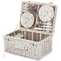 Плетеная корзина для пикника (6 персон)