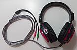 Наушники с микрофоном и регулятором громкости Fantech Shaco HG5 Black/Red (HG5), фото 2