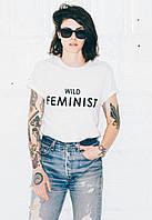"""Хайповая женская футболка """"Феминистка"""", хайповая одежда, футболка с надписью"""