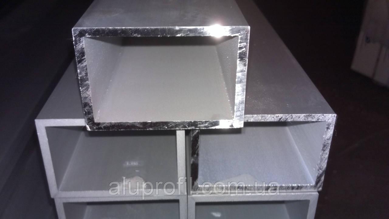 Алюминиевый профиль — труба прямоугольная 80х40х2 Б/П