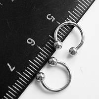 Подковы, полукольца для пирсинга: диаметр 8 мм, толщина 1.2 мм, диаметр шариков 3 мм. Сталь 316L.