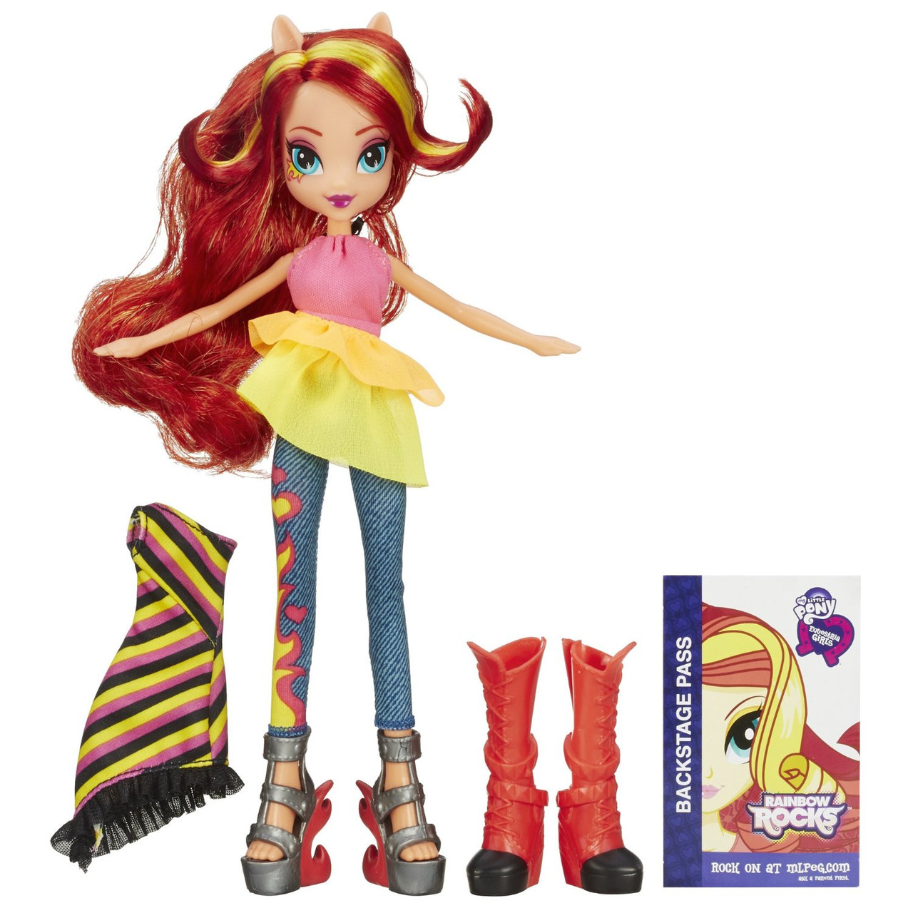 My Little Pony Лялька Еквестрія Сансет Шиммер (Sunset Shimmer Rainbow Rocks, Кукла Эквестрия Шиммэр Саншайн)